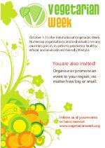 Vegetarian Week  call for action