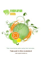 Vegetarian  week poster with john robbins sentence