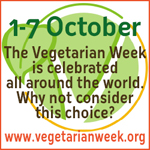 Veg week logo in a button
