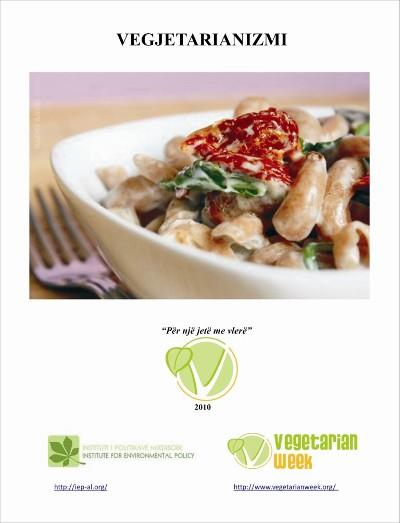 Book cover: nice dish, veg week logo and IEP logo