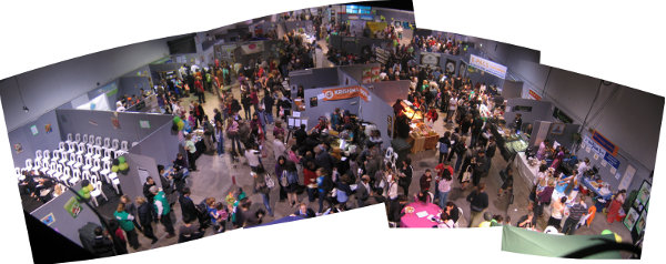 New zealand exhibition - stalls and many people