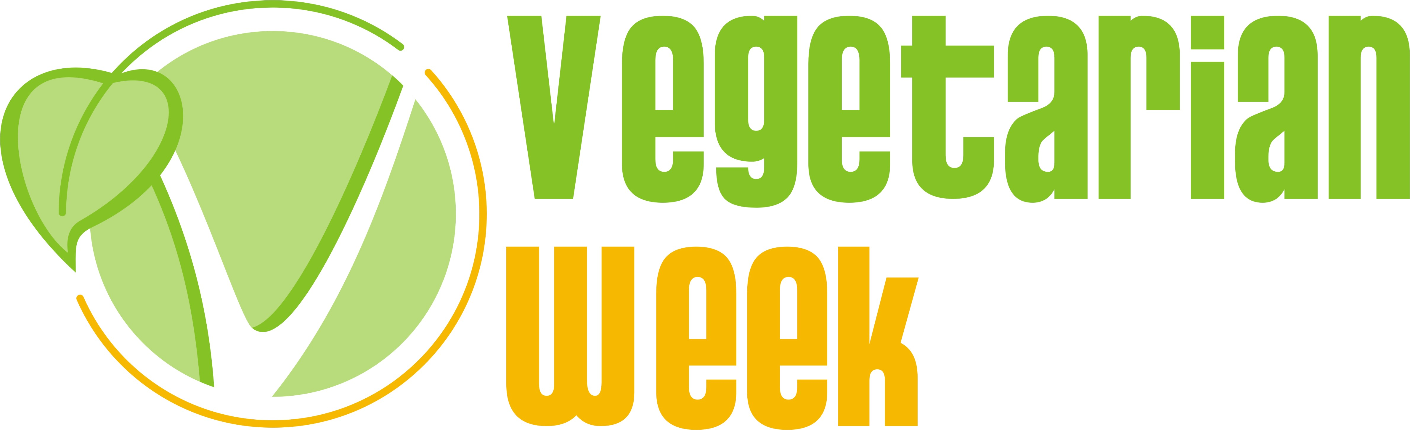 V and leaf of the Vegetarian Week
